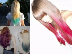 tips ombre color hair