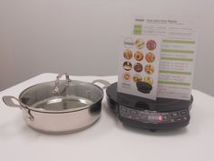 """You will get a 3.5 qt. pot with tempered glass lid, the """"Precision Induction Cooktop Complete Cookbook"""" and cooking guide for FREE when your purchase your NuWave PIC today."""
