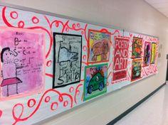 Art & Poetry: 2nd grade / Wall display
