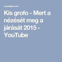 Kis grofo - Mert a nézését meg a járását 2015 - YouTube