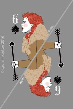 Game of Thrones Playing Cards - 6 of Spades (Ygritte) Dessin Game Of Thrones, Game Of Thrones Cards, Hbo Game Of Thrones, Got White Walkers, Jaqen H Ghar, Catelyn Stark, Joker Card, Playing Card Games, Movies And Series
