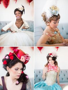 Valentine's Day Bridal Shower + Punk Marie Antoinette by Abby Grace Photography - via greenweddingshoes