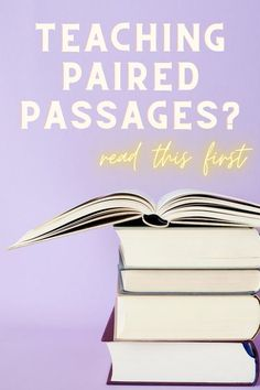 Teaching Paired Passages is hard! Read this blog post with tips and advice for teaching paired texts and to find resources for your students!   #pairedpassages #pairedtexts #middleschoolela #writinglessons #racestrategy #backtoschoolela #tptblogposts #literacycenters #readingcomprehension Writing Lesson Plans, Writing Lessons, Writing Topics, Teaching Writing, Types Of Reading, Depth Of Knowledge, Reading Comprehension Strategies, Writing Anchor Charts, Guided Practice