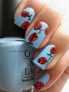 Ladybug nails... cute!