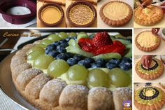 Ricetta crostata di frutta fresca Confort Food, Fruit Pie, Sweet Bakery, Cheesecake, Breakfast Cake, Something Sweet, Buttercream Frosting, No Bake Cake, Fresh Fruit