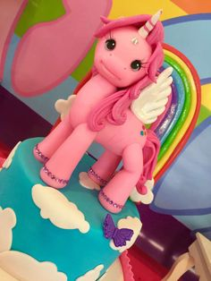 Fun cake at a My Little Pony birthday party! See more party ideas at CatchMyParty.com!