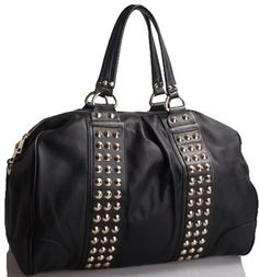 Chic black studded purse by @Pursebuzz!! I would so rock this