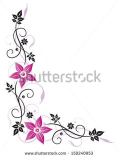 Colorful border designs with flower Free vector for free download ...