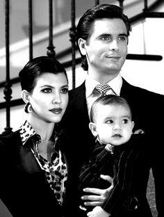 I want family photos like this when my kids are born!!!! Scott Disick, Kourtney Kardashian & their son Mason.