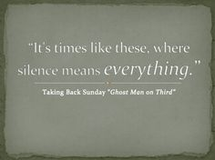 Taking Back Sunday - Ghost Man on Third