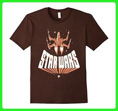 Mens Star Wars X-Wing Vintage Retro Logo Flyby Graphic T-Shirt 2XL Brown - Retro shirts (*Amazon Partner-Link)