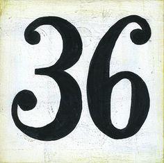 handpainted number