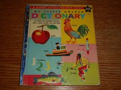 My Little Golden Dictionary ill Richard Scarry A Giant Little Golden Book 'F' Richard Scarry, Little Golden Books, Colorful Pictures, Rooster, Illustration, Ebay, Art, Colorized Photos, Art Background