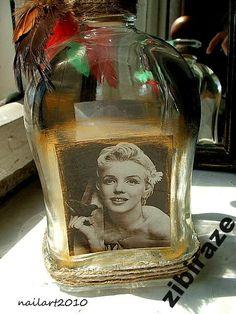 Marilyn Monroe wazon dekoracja unikat złota jedyna