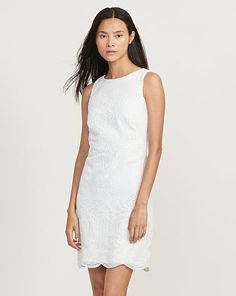 Lace Sleeveless Dress - Short Dresses - RalphLauren.com