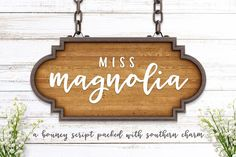Miss Magnolia is a bouncy script font with southern charm use for card designs or stationery design. $12 https://crmrkt.com/jOlqO #ad