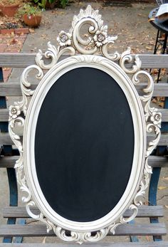 Hollywood Regency Syroco Mirror Chalkboard  Vintage Blackboard. 67.00, via Etsy.