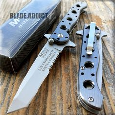 MTECH LAW ENFORCEMENT Tactical Tanto SPRING ASSISTED Open Folding Pocket Knife