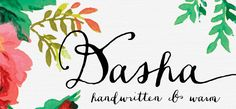 Dasha font by Magpie Paper Works – hand-made in every letter