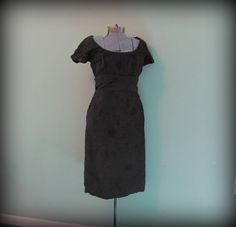 Vintage 60s Womens Black Cocktail Party Dress by offbeatvintage, $38.00