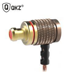 QKZ ED2 Music Headset Phone Headset HIFI Bass Headset Metal Earphone fone de ouvido auriculares audifonos
