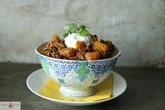 Pulled Pork and Butternut Squash Chili by Heather Christo, via Flickr