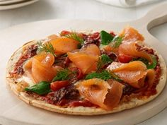 Salmon on pizza...a perfect pair (look for the blue #MSC certified label on your salmon - it's easy)