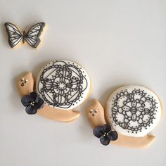 snail & butterfly cookies
