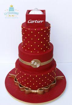 Wedding cake Cartier ring