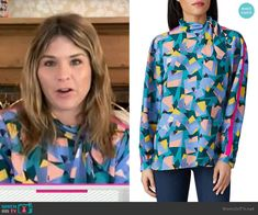 On Today, Today Show, Jenna Bush Hager, Rent The Runway, May 7th, Printed Blouse, Fashion Outfits, Blue, Clothes
