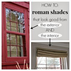 "That's My Letter: ""R"" is for Roman Shades"