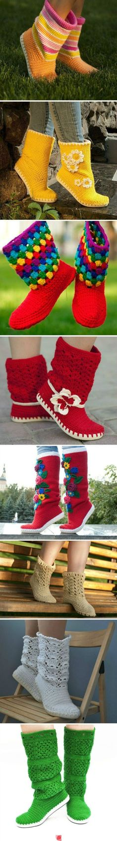 Someone please make me a pair of these crochet boots!!! So cute!! Chelsey Wagaman!
