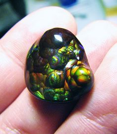 Fire Agate by Different Seasons Jewelry, via Flickr #gemstones