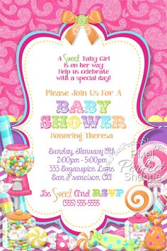 Candy Land Shower Theme Baby Ideas Baby Girls