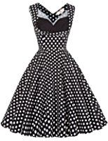 Grace Karin Vintage 1950er Floral Pattern Festliche Kleid Partykleid ZY008901