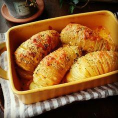 【オーブン不要!】あっという間に出来る噂のハッセルバックポテト | ペコリ by Ameba - 手作り料理写真と簡単レシピでつながるコミュニティ -