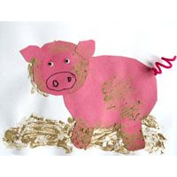 animal crafts Three Little Pigs Activities, Crafts, Lessons, Games, and Printables Farm Animals Preschool, Farm Animal Crafts, Pig Crafts, Farm Crafts, Animal Crafts For Kids, Preschool Activities, Animal Activities, Toddler Activities, 3 Little Pigs Activities