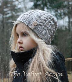 TRICOT PATTERN-The sérénité Hat bébé enfant par Thevelvetacorn