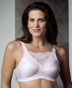 9934d86a581d0 Trulife Post Mastectomy Cami Style Lace Pocket Bra Jessica 4019 NEW