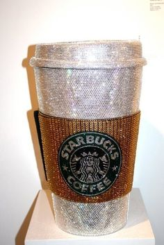 blinged out Starbucks cup! Now this is what you should get when you earn your gold card from Starbucks Starbucks Coffee, Hot Coffee, Coffee Cups, Drink Coffee, Coffee Break, Starbucks Drinks, Coffee Time, Espresso Coffee, Iced Coffee