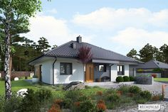 Mini 1 G1 ENERGO 100 M2, Prefab Homes, Mid-century Modern, Gazebo, Family Room, House Plans, Construction, Outdoor Structures, House Design