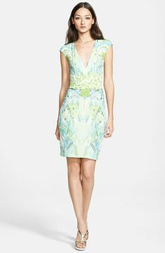 Roberto Cavalli Print Sheath Dress available at #Nordstrom