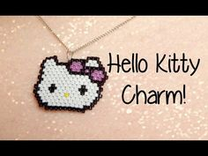 DIY Hello Kitty Seed Bead Brick Stitch Charm How To! ¦ The Corner of Craft - YouTube