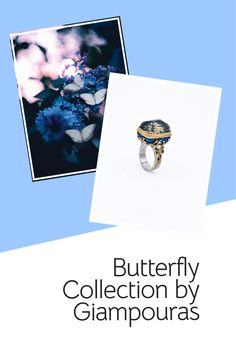 Butterfly ring #butterflyring #enamelring #gemstone Titanium Jewelry, Butterfly Ring, Small Business Marketing, Promotion, Fashion Accessories, Enamel, Gemstones, Eye, Group