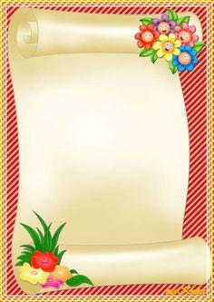 Boarder Designs, Frame Border Design, Page Borders Design, Flower Background Design, Flower Background Wallpaper, Flower Backgrounds, School Photo Frames, School Frame, Boarders And Frames