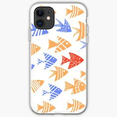 'Be unique, school of fish pattern' iPhone Case by Sofia Dimitriadou Fish Patterns, Canvas Prints, Art Prints, Sell Your Art, Ipad Case, Iphone Case Covers, Cover Design, Iphone 11, My Arts