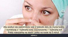 Jak pozbyć się zaskórników? - Aby pozbyć się zaskórników weź 2 łyżeczki żelu do mycia twarzy i wymieszaj z 1 łyżeczka sody oczyszczonej i 1 ...