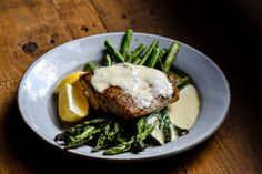 Red Snapper with Lemon Cream Sauce - Food is Love Made Edible Asparagus Dishes, Asparagus Recipe, Lemon Recipes, Cream Recipes, Yummy Recipes, Whole Fish Recipes, Red Snapper Recipes, Lemon Cream Sauces, Seafood Recipes