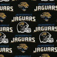 NFL Football Jacksonville Jaguars Cotton Fabric