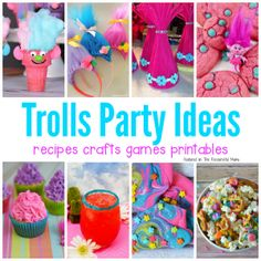 Troll Party Snack Mix Recipe Party Snack Mixes Troll